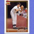 1991 Topps Baseball #447 John Burkett - San Francisco Giants