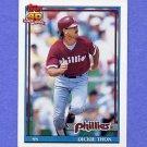1991 Topps Baseball #439 Dickie Thon - Philadelphia Phillies