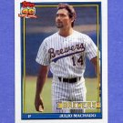 1991 Topps Baseball #434 Julio Machado - Milwaukee Brewers NM-M