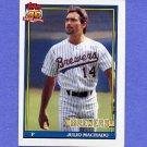 1991 Topps Baseball #434 Julio Machado - Milwaukee Brewers ExMt
