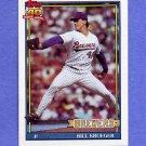 1991 Topps Baseball #417 Bill Krueger - Milwaukee Brewers