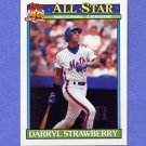 1991 Topps Baseball #402 Darryl Strawberry AS - New York Mets