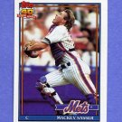 1991 Topps Baseball #382 Mackey Sasser - New York Mets