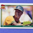 1991 Topps Baseball #380 Willie McGee - Oakland A's