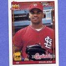 1991 Topps Baseball #368 Felix Jose - St. Louis Cardinals NM-M