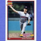 1991 Topps Baseball #357 Jack Savage - Minnesota Twins