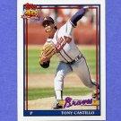 1991 Topps Baseball #353 Tony Castillo - Atlanta Braves