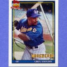 1991 Topps Baseball #347 Greg Vaughn - Milwaukee Brewers