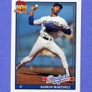 1991 Topps Baseball #340 Ramon Martinez - Los Angeles Dodgers