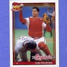 1991 Topps Baseball #308 Tom Pagnozzi - St. Louis Cardinals