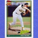 1991 Topps Baseball #294 Mike Moore - Oakland A's