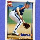 1991 Topps Baseball #286 Ken Oberkfell - Houston Astros