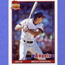 1991 Topps Baseball #255 Brian Downing - California Angels
