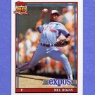 1991 Topps Baseball #252 Mel Rojas - Montreal Expos