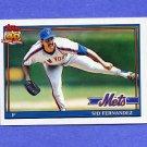 1991 Topps Baseball #230 Sid Fernandez - New York Mets ExMt