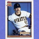 1991 Topps Baseball #221 Don Slaught - Pittsburgh Pirates