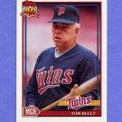 1991 Topps Baseball #201 Tom Kelly MG - Minnesota Twins NM-M