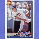 1991 Topps Baseball #199 Mike Hartley - Los Angeles Dodgers