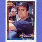 1991 Topps Baseball #196 Jim Vatcher RC - Atlanta Braves