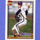 1991 Topps Baseball #194 Xavier Hernandez - Houston Astros