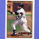 1991 Topps Baseball #190 Matt Williams - San Francisco Giants