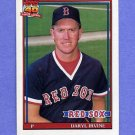1991 Topps Baseball #189 Daryl Irvine RC - Boston Red Sox
