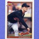 1991 Topps Baseball #179 Pete Harnisch - Baltimore Orioles
