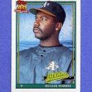 1991 Topps Baseball #177 Reggie Harris - Oakland A's