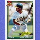 1991 Topps Baseball #166 Harold Baines - Oakland A's