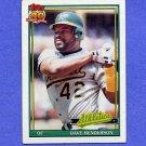 1991 Topps Baseball #144 Dave Henderson - Oakland A's VgEx