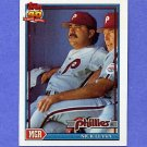 1991 Topps Baseball #141 Nick Leyva MG - Philadelphia Phillies
