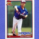 1991 Topps Baseball #136 Dave Schmidt - Montreal Expos NM-M
