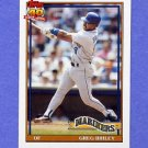 1991 Topps Baseball #133 Greg Briley - Seattle Mariners