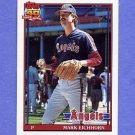 1991 Topps Baseball #129 Mark Eichhorn - California Angels