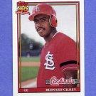 1991 Topps Baseball #126 Bernard Gilkey - St. Louis Cardinals