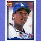 1991 Topps Baseball #115 Hubie Brooks - Los Angeles Dodgers
