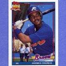 1991 Topps Baseball #111 Andres Thomas - Atlanta Braves