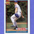 1991 Topps Baseball #086 Les Lancaster - Chicago Cubs