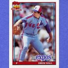 1991 Topps Baseball #077 Drew Hall - Montreal Expos