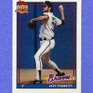 1991 Topps Baseball #056 Jeff Parrett - Atlanta Braves