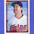 1991 Topps Baseball #046 Tim Drummond - Minnesota Twins