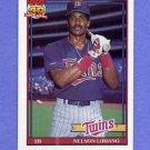 1991 Topps Baseball #018 Nelson Liriano - Minnesota Twins