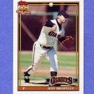 1991 Topps Baseball #017 Jeff Brantley - San Francisco Giants NM-M