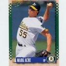 1995 Score Baseball #501 Mark Acre - Oakland A's