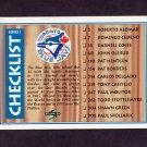 1995 Score Baseball #330 Team Checklist / Toronto Blue Jays / St. Louis Cardinals