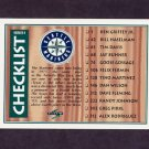 1995 Score Baseball #328 Team Checklist / Seattle Mariners / San Diego Padres