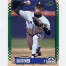 1995 Score Baseball #139 David Nied - Colorado Rockies