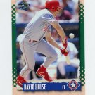 1995 Score Baseball #130 David Hulse - Texas Rangers