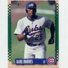 1995 Score Baseball #121 Karl Rhodes - Chicago Cubs