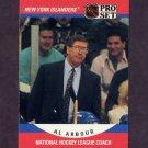 1990-91 Pro Set Hockey #671 Al Arbour CO - New York Islanders